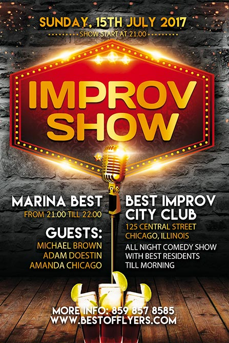 Improv Show Free Poster And Flyer Template