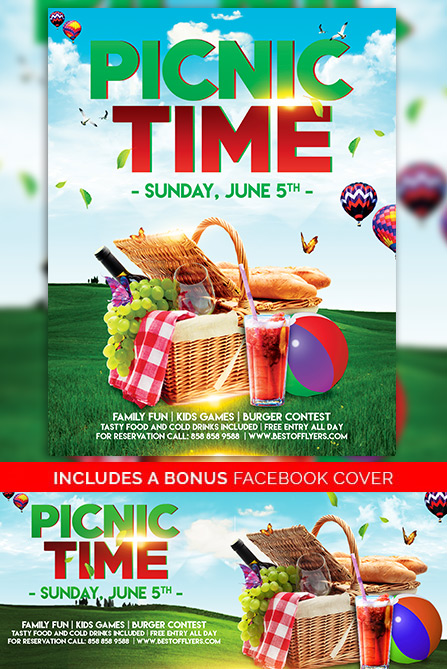 Download Free Picnic Time Free Poster And Flyer Template For Photoshop