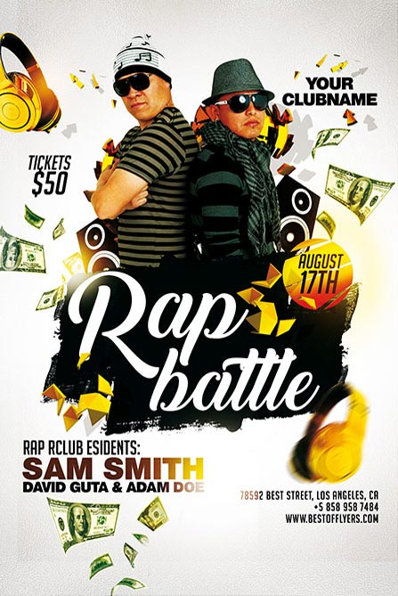 rap battle free poster template best of flyers