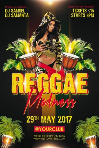 Reggae_Madness_Flyer_Template_1