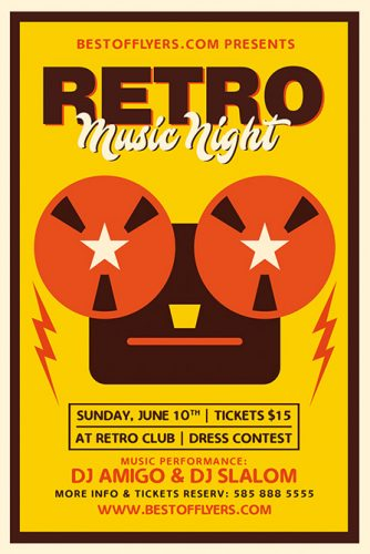 Retro_Music_Night_Flyer_Template_1