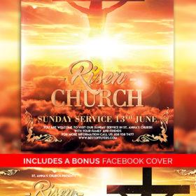 Risen_Church_Flyer_Template