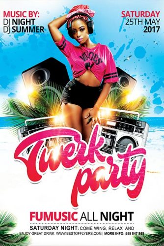 Twerk_Party_Flyer_Template_1