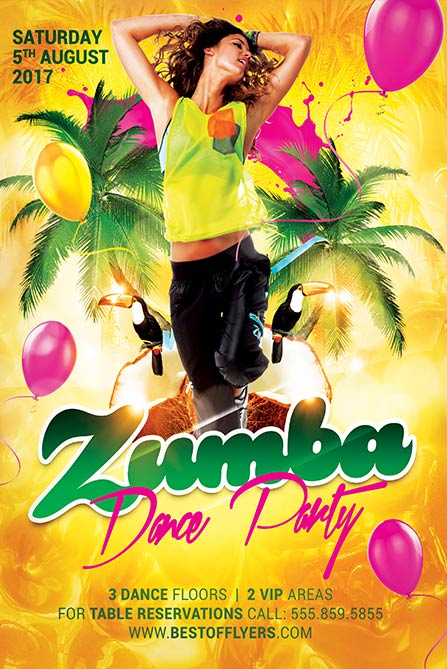Zumba Dance Party Free Poster Template Best Of Flyers
