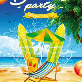 Beach Party Free Poster Template