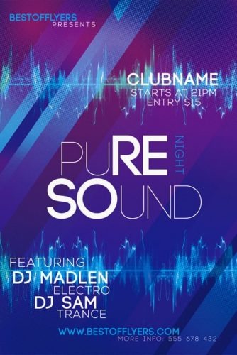 Pure_Sounds_Night_Flyer_Template_1