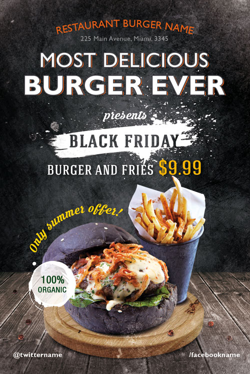 Burger Day Restaurant Free Flyer Template For Fast Food