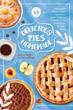 Delicious Homemade Pie Free Flyer Template