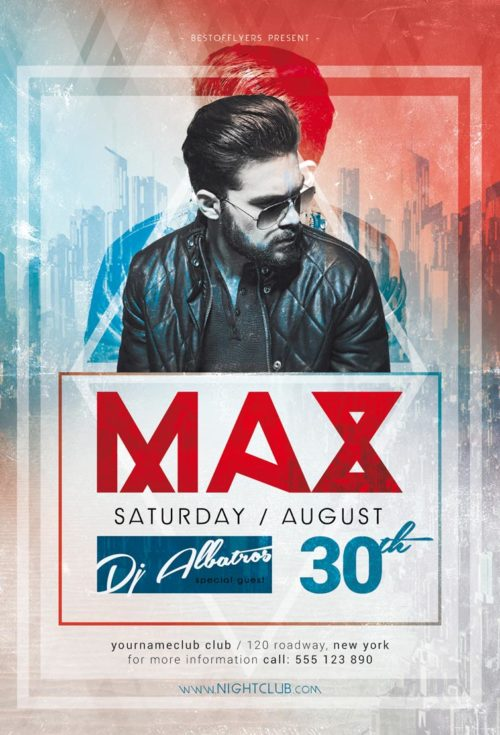 DJ Max Minimal Party Free Flyer Template