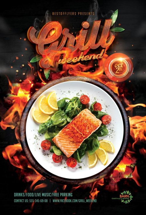 Grill Weekend Free Flyer Template