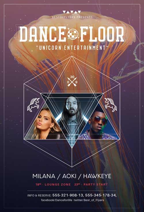 DOWNLOAD DANCE FLOOR PARTY FREE FLYER TEMPLATE