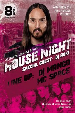 House Night Party Flyer Template